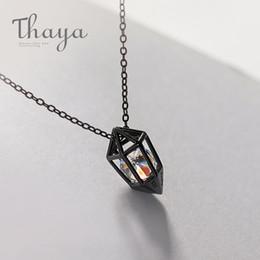 $enCountryForm.capitalKeyWord Australia - Thaya Diamond Heart Pendant Necklace S925 Silver Black Chain Protect Cubic Zircon Simple Dainty Jewelry For Women Gift J190611