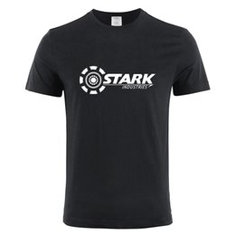 $enCountryForm.capitalKeyWord Australia - STARK INDUSTRIES TONY STARK IRON MAN T-shirts Summer Brand 100% Cotton T Shirts Fitness Casual Short Sleeve Camisas