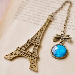 Wholesale Metal Items Australia - 2019 1 Pc New Arrival Vintage Eiffel Tower Metal Bookmarks For Book Creative Item Kids Gift Korean Stationery Free Shipping