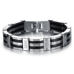 $enCountryForm.capitalKeyWord Australia - 2019 New Products European and American Handmade Wholesale Classic Personality Men's Titanium Steel Bracelet for Gifts
