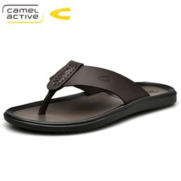 Wholesale Camel Active New New Summer Cool Water Flip Flops Men High Quality Soft Massage Beach Slippers Fashion Man Casual Shoes