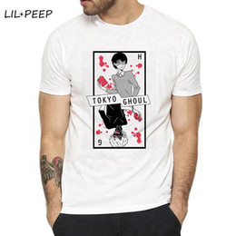 $enCountryForm.capitalKeyWord Australia - Halfblood White Kaneki Tokyo Ghoul T Shirt Anime Novelty Summer Japan Anime Man Manga T-shirt Cosplay Costume Clothing