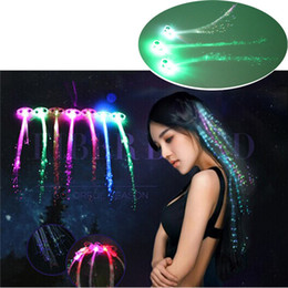$enCountryForm.capitalKeyWord Australia - Halloween Day Fiber Luminous Braid Multicolor LED Flash Light Optical Fibers Braids Bars Party Birthdays KTV Concerts Hair Holiday light