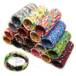 Gum Hair Australia - 20pcs bag Gum ties Flowers Elastic hair bands Headwear Hair accessories Cartoon Print scrunchy women girls Scrunchy