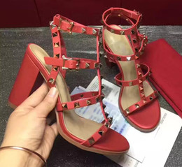 $enCountryForm.capitalKeyWord Australia - 2019 Summer ladies sandals European style luxury high heel dance party fine heels high quality Genuine Leather shoes with box