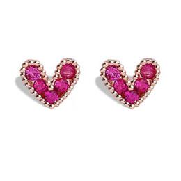 $enCountryForm.capitalKeyWord UK - Korean Simple simulation pearl earrings Red Cubic Zirconia Earrings Quality Bride Earrings Jewelry Luxury bijou Crystal Drop Stud Gifts