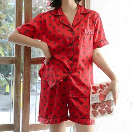 $enCountryForm.capitalKeyWord Australia - Sexy pajamas Woman sleeping clothes sexy Women 2Pcs Summer Pajamas Short Sleeve Shorts Loose Sleepwear Homewear6.25 0.5