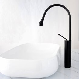 Single handle kitchen Sink faucetS online shopping - Black Stainless steel Drop shaped Kitchen Sink Faucet Mixer Cold And Hot Single Handle Swivel Spout Bathroom Sink Water Mixer Tap
