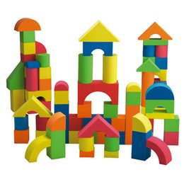 $enCountryForm.capitalKeyWord Australia - 41 Pieces Kids EVA Foam Building Blocks Children Educational Assembling Toys New Fashion Foam Building Blocks