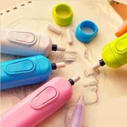 electric pencil eraser NZ - chool Supplies Eraser 1 pcs Motor Electric Eraser Automatic School Supplies Stationery Child Day Gift Material Escolar Sketch painting co...