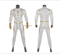 $enCountryForm.capitalKeyWord Australia - The Flash Season 5 Barry Allen God Speed Cosplay Costume Carnival Halloween for Adult Men Jumpsuits Rompers Sets