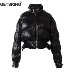 $enCountryForm.capitalKeyWord Australia - GETSRING Womens Down Jackets Decals Short Down Coats Women Parkas Long Sleeve Lightweight Jackets Woman Winter Coat Black