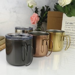 For Tumblers Australia - Multi Colors Tea Coffee Cups For Home Practical Vacuum Mug Round Metal Stainless Steel Tumblers High Quality 29al BB