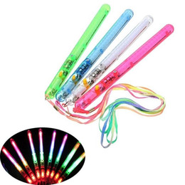 Party fluorescence stick online shopping - 300pcs Multi Colors Flash Sticks With Rope LED Light Stick For Birthday Party Resuable Fluorescence Rod Hot Sale Party Decoration