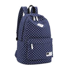Red Polka Dot Backpack Australia - Polka Dot School Shoulder Canvas Backpack Bag Travel Rucksack Large Capcity Student Daypack Satchel 33 x 16 x 45cm
