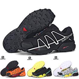 online store 3c138 2506b Salomon Speed Cross 4 IV CS Negro Azul Naranja Rojo Hombres Zapatillas de  deporte para caminar