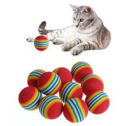 Halloween Balls Australia - Hot 10PC Lot Mini Small Dog Toys For Diameter 35mm interesting Pet Toy dog and cat Toys Super cute Rainbow Ball toy Cartoon plush toy