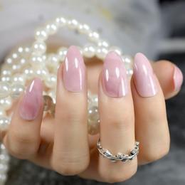 Discount fake products - Stiletto False Nails Tips Dark Pink Marble Short Size Fake Nail Acrylic Nails Full Wrap Nail Tips Salon Products
