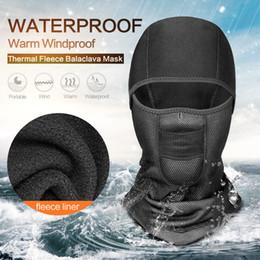Face Mask Helmet Neck Warm NZ - Unisex Winter Warm Hat Waterproof Windproof Face Mask Hat Neck Helmet Beanies Sports Bicycle Thermal Fleece Balaclava Hat MC174