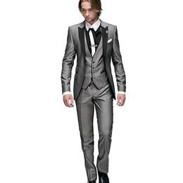 $enCountryForm.capitalKeyWord UK - Italian Mens Wedding Suits 3 Pieces Slim Fit Jacket+Pants+Vest Custom Groom Tuxedo Suits for Wedding Prom Suit