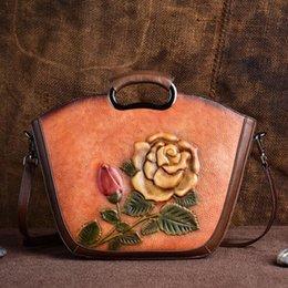 $enCountryForm.capitalKeyWord Australia - 2019 Fashion Hot Luxury Women's Genuine Leather Shoulder Bag Rose Flower Designer Handbag Ladies Messenger Bag Popular Top Brands Totes