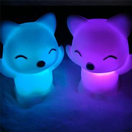 fox night light Australia - Party Favors 7 Changing Colors Lovely Fox Shape LED Night Light birthday party for a gift