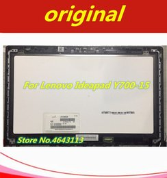 "Free Touch Screen Laptops Australia - Free shipping NON TOUCH 3D 15.6"" LCD Laptop Screen Assembly For Lenovo Ideapad Y700-15ISK 80NW 1920x1080 with frame bezel"
