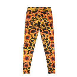 $enCountryForm.capitalKeyWord UK - CHAMSGEND New Women's Fashion sunflower print hips breathable thin yoga pants sports fitness running pants