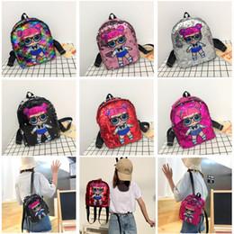 $enCountryForm.capitalKeyWord Australia - Free DHL 2019 Newest Sequin Doll Backpack With Zipper Girl Cartoon Handbag Mini School Bag Toddler Kids Backpacks Women Gift Bags M134F
