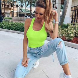 $enCountryForm.capitalKeyWord Australia - RINIKINDA New Summer Ladies Jumpsuits Womens Sleeveless Halter Solid Skinny Bodysuit Women Party Sexy Casual Polyester Rompers