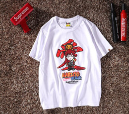 cartoon printed couple t shirts 2019 - New street personality trend cartoon anime Chinese characters love printing men and women casual T-shirt fashion breatha