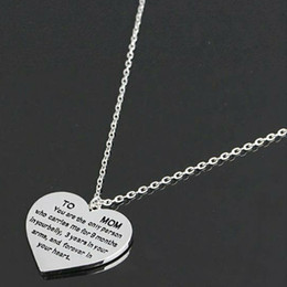 $enCountryForm.capitalKeyWord Australia - TO MOM Love Heart Lettering Pendant Necklace Chain Charm Mothers Day Gifts Birthday Gifts Jewelry