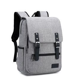 $enCountryForm.capitalKeyWord UK - Vintage Laptop Backpack for Women Men,School College Backpack with USB Charging Port Fashion Backpack Fits 15 inch Notebook