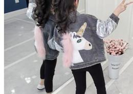 $enCountryForm.capitalKeyWord Australia - Toddler Kids Girls Jacket and Coat Autumn Denim Unicorn Teenager Teens Girls Jackets Children Outerwear For Clothes