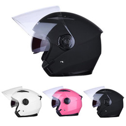 Half Helmets Lenses Australia - JIEKAI Motorcycle Helmet Half Helmet Half-Covered Double Lens Four Season Electric Vehicle Anti-Fog Dropship