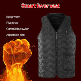 heated jackets NZ - USB Electric Heated Outdoor Men Jacket Nature Hike Skiing Thermal Warm Heated Vest Winter Women's Down Thermal Coat