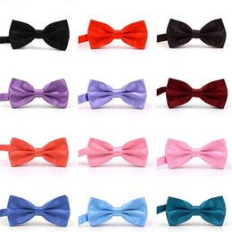 Bowties For Women Australia - Women Men bow tie bow ties black red blue solid bowties adult double layer metal buckle bowtie womens mens neckwear for Wedding Party