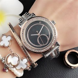 analog wrist watch sale Canada - Hot sales Fashion luxury watch Women M brand new clock stainless steel wristwatch Quartz High quality Wrist Watch noble female table