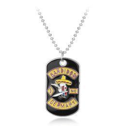 $enCountryForm.capitalKeyWord Australia - Hot Movie Jewelry Alloy Metel BANDIDOS Pendant Chain Necklace