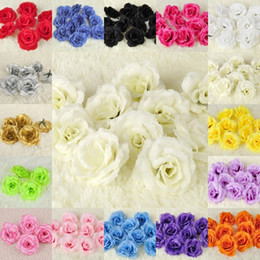 $enCountryForm.capitalKeyWord Australia - 100pcs 7cm Chinese Rose Head Artificial Silk Flower For Party Wedding Flower Wall Kissing Ball Home Design Decor