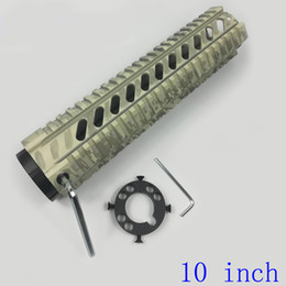 free float quad UK - High Quality 10 Inch Free Float Quad Rail Mounting System Handguard Camouflage (ACU pattern) Color