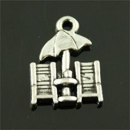 chairs charm Australia - 100pcs Charm Beach Chairs Beach Chairs Pendant Charms For Jewelry Making Antique Silver Beach Chairs Charms 14x20mm