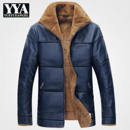 $enCountryForm.capitalKeyWord Australia - 2019 New Plus Size 9XL Fleece Warm PU Leather Jacket Man Coats Brand Designer Mens Faux Leather Jackets Parkas Winter Streetwear