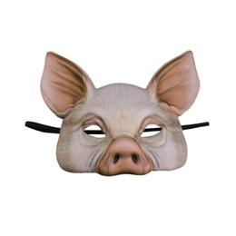 $enCountryForm.capitalKeyWord Australia - 1pc Ball Mask Pig Half Face Party Mask Masquerade for Masquerade Fancy Ball Halloween