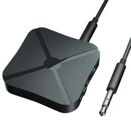 50pcs / lot Bluetooth émetteur récepteur 3.5mm adaptateur sans fil Bluetooth 4.2 Stéréo Audio Dongle pour TV voiture / haut-parleurs à la maison en Solde