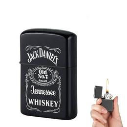 $enCountryForm.capitalKeyWord Australia - Windproof Refillable Cigarette Lighter Mini Pocket Lighter Kerosene Oil Lighter Gasoline Retro Men Gadgets Lighters