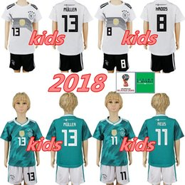 germany jersey black 2019 - Youth Germany Soccer Jerseys Set 2018 World Cup MULLER OZIL BOATENG 23 GOMEZ 7 DRAXLER REUS Kids kit Football Shirt Kits