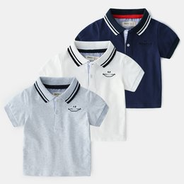 $enCountryForm.capitalKeyWord Canada - Summer Boutique Korean Childrens Clothes Wholesale Cotton Short Sleeve T-shirt POLO Shirts And Jackets For Boys