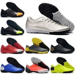 3a636d29b Kids Low Ankle Football Boots Futsal Youth Children VAPORX 12CLUB IC TF  Soccer Shoes Men Women Superfly CR7 Indoor Turf Soccer Cleats