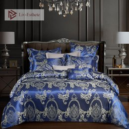 $enCountryForm.capitalKeyWord UK - Liv-Esthete Euro Jacquard Palace Luxury Bedding Set Double Queen King Duvet Cover Flat Sheet Decorative Bed Linen Home Textile